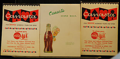 3 New Old Stock Coke Coca Cola Note Pads