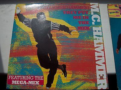 MC HAMMER, HAMMER HAMMER, THEY PUT ME IN THE MIX ft THE MEGA-MIX. 1991 SINGLE