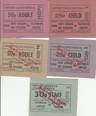 Card Tickets. London Transport. Airport Coach Service. 5 tickets.