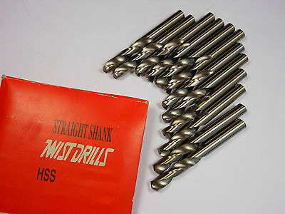 "TWIST Screw Machine Drill Bits 7.4mm 135° 1-9/16"" x 2-3/4"" HSS Qty 12 -5052E879"