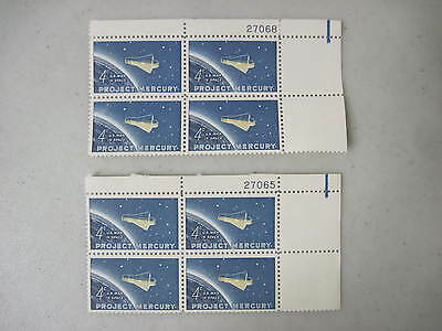 Two Blocks Of 4 Project Mercury 4 Cent Stamps 1962