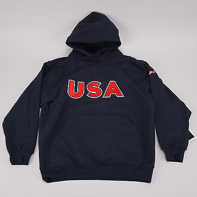 VOS Sports Team USA Casual Jacket SMALL Cycling Bike America Flag Hoodie