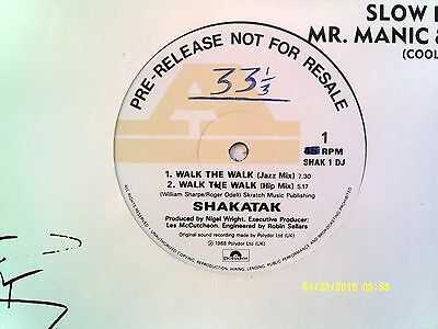 "Shakatak Walk The Walk 12"" Promo Single 1988 N/mint"