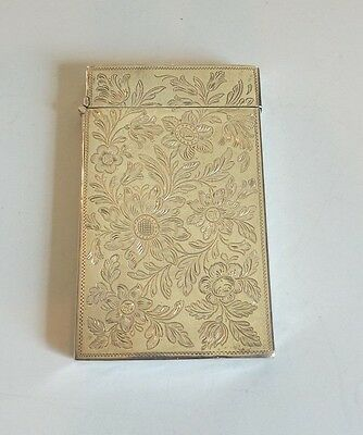 NICE ANTIQUE STERLING SILVER CALLING CARD / BUSINESS CARD CASE, 50 grams