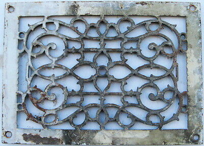 "Antique Rectangular Cast Iron Floor Register Heating Cover 13 5/8"" X 9 3/4"""