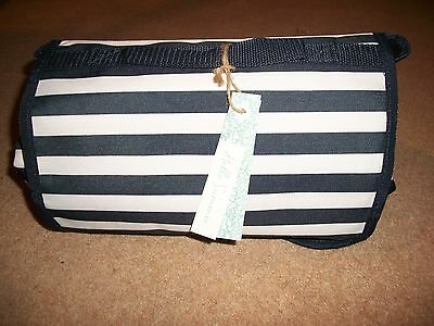 Striped Navy And White Folding Beach Mat