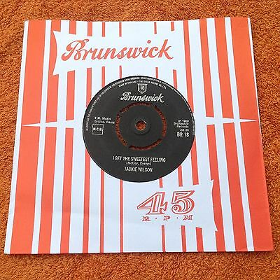 Jackie Wilson - I get the sweetest feeling.  seven inch record Brunswick 1969