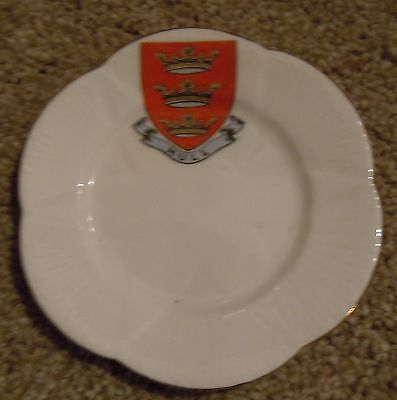 The Foley [Shelley] China Crested Ware - Small Cake Plate - Hull