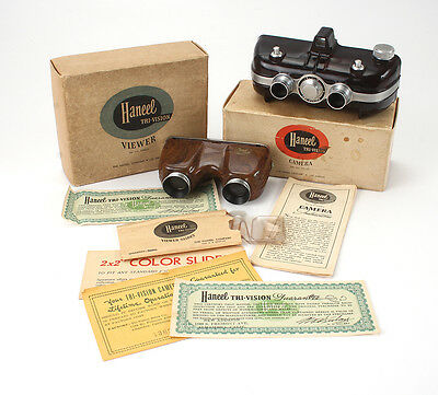 HANEEL TRI-VISION STEREO CAMERA AND VIEWER BOXED WITH EXTRAS/cks/189851