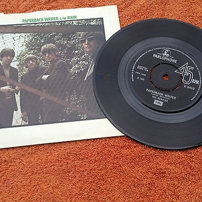 Beatles - paperback writer / rain 1976 issue seven inch record parlophone ex con