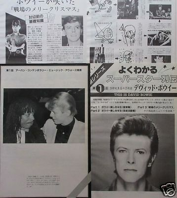 DAVID BOWIE HISTORY Rick James 1983 CLIPPING JAPAN MAGAZINE ML 4A 6PAGE