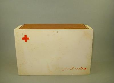 Rare! Vintage Old Small Wooden Medicine Apothecary Wall Cabinet Chest  - Box