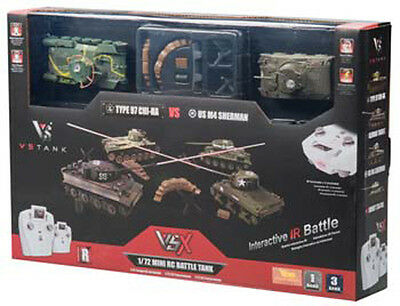 VsTank VSX 1/72 Type 97/Sherman IR Battle R/C Remote Control Tank Set RTR