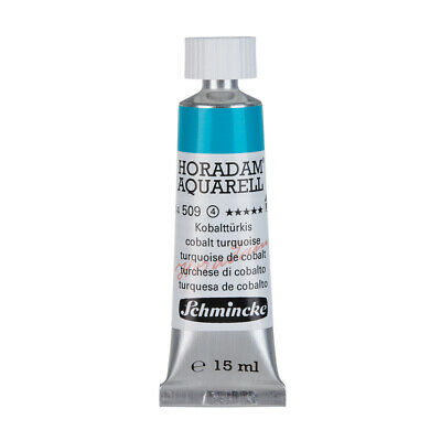 (86,87€/100ml) Schmincke 15ml HORADAM Aquarell Kobalttuerkis Aquarell  14 509 00