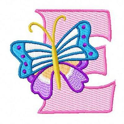 Butterfly Alphabet 30 Machine Embroidery Designs