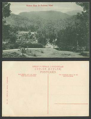 Ceylon Old Postcard Nuwara Eliya, St. Andrews Hotel, Mountains, Sri Lanka Ceylan