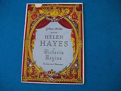 """Victoria Regina"" large Souvenir Program - Helen Hayes at the Curran Theatre"