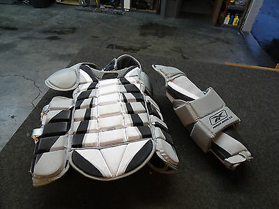 Reebok Pulse Pro-Spec Chest Pad AB-6K SR-L NHL Legal Size w/ Premier Arm Guard