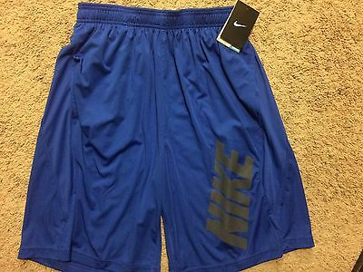 "NWT Nike Dynamo 10"" Training Shorts 834439 Dri-Fit Blue Men's XL MSRP $40"