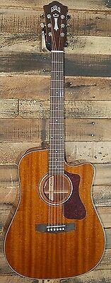 Guild D-120CE Natural Mahogony Acoustic-Electric Guitar with Case  NEW!!