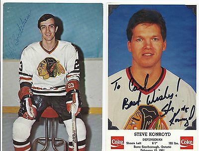 Steve Konroyd Signed / Autographed Hockey Post Card Chicago Black Hawks