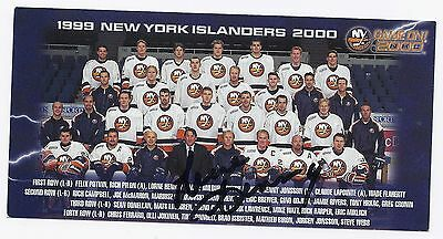 Lorne Henning Signed / Autographed Hockey Photo New York Islanders 1999 Coach