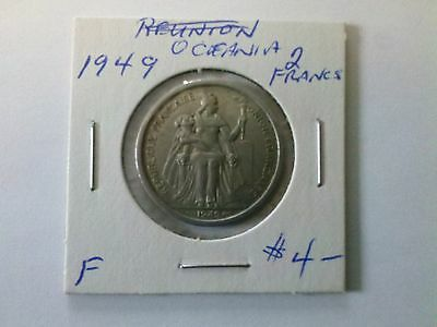 French Oceania 1949 2 Francs