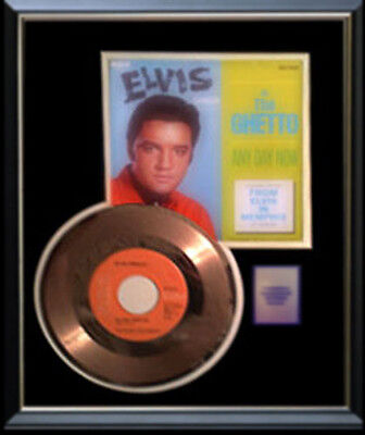 Elvis Presley Gold Record In The Ghetto Rare  Disc & 45 Rpm Sleeve