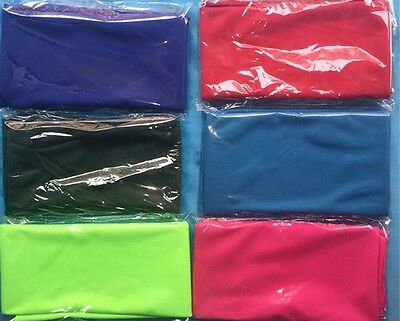 """10"" x  MIXED COLOURS Cooling Towels.Ice Cold Cool GREAT FOR GYMS & All Sport."