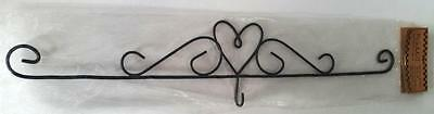 "16"" Or 40Cm Black Metal Heart Calendar Hanger"