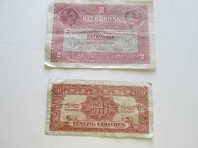 (2) Austria And Austro-Hungarian Bank Notes