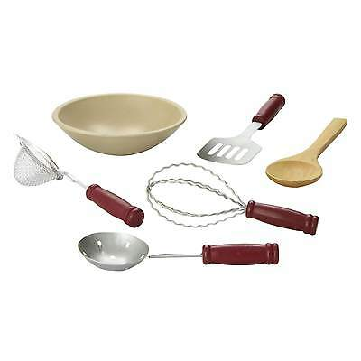 "18"" Doll 6 Pc KITCHEN TOOL ACCESSORY SET For American Girl Kitchen Accessories"