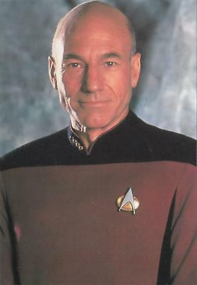 Star Trek TNG The Next Generation 1991 Jean Luc Picard postcard 105-148
