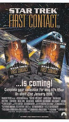 Star Trek TNG The Next Generation 1998 First Contact OVERSIZE promo postcard
