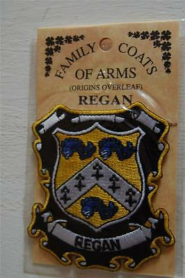 REGAN Embroidered PATCH Coat of Arms Family Crest - Sew or Iron On