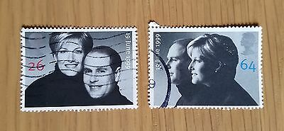 Complete used GB stamp set - 1999 Royal Wedding