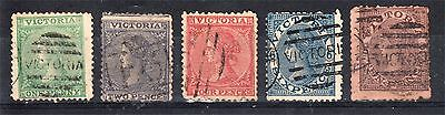 VICTORIA LAUREATED SERIES X 5 TO 10d USED (D42)