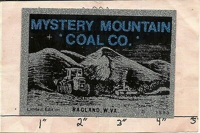 """Mystery Mountain Coal Company - Hard Hat- Coal Mining Sticker-Decal """"old"""""""