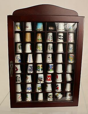 Collection of 48 Thimbles with Display Case ##WBR302JMH
