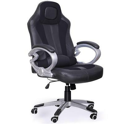 Luxury Racing Gaming Office Chair Computer Desk Task Chair W/ Reclining Function