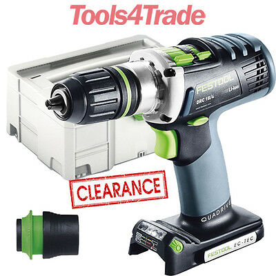Festool DRC 18/4 Li 18v Cordless Drill Bare Unit in Systainer 564550 Clearance