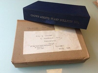 Crown Agents Stamp Bulletin 1970. 12 Issues. Bound.