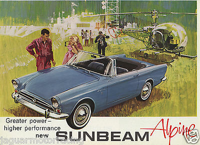 New Sunbeam Alpine 1725  Brochure  Uk Car