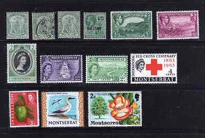 Montserrat - 13 stamp selection - 1903 - 1976 Mint & One Used