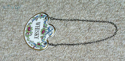 Coalport Bone China Whisky Decanter Label Tag