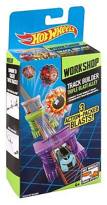 Hot Wheels Track Builder Workshop Toy - Triple Blast Alley Playset