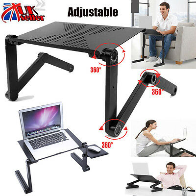 Adjustable Portable Foldable Laptop Desk Computer Table Tray Bed Sofa Stand UK