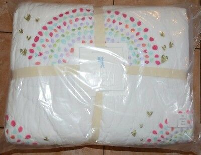 Pottery Barn Kids Rainbow Quilt Full Queen Multi Color Pink Pool
