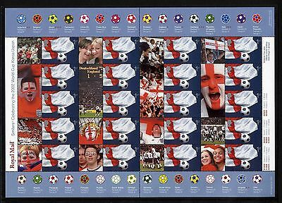 GB Great Britain, 2002 Football World Cup Smilers sheet LS8 MNH