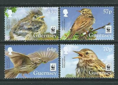 Guernsey 2017 Wwf Meadow Pipet Set Of 4 Unmounted Mint, Mnh